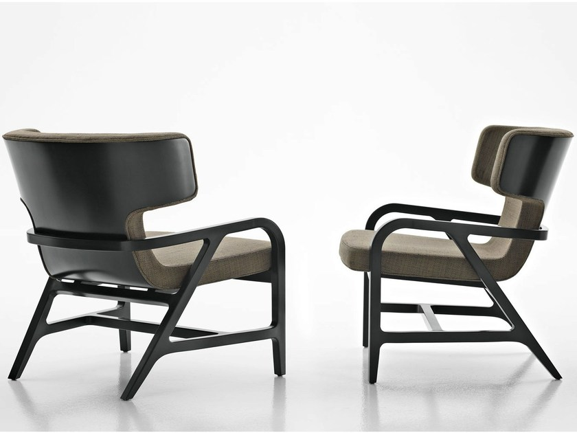 Fabric easy chair with armrests FULGENS by Maxalto