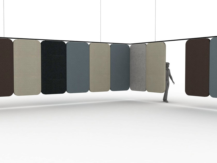 Acoustic room divider NOTES By Offecct design Luca Nichetto
