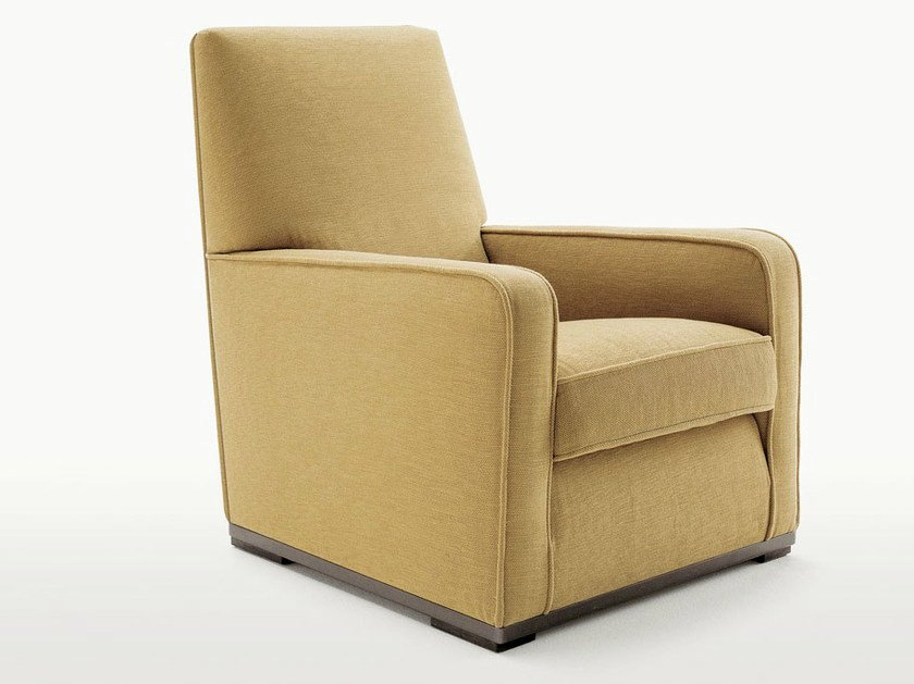 Upholstered fabric armchair with armrests IMPRIMATUR | Fabric armchair by Maxalto