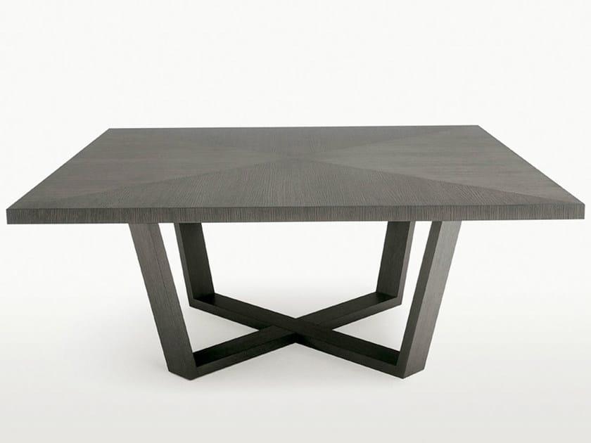 Square wooden table XILOS | Square table by Maxalto