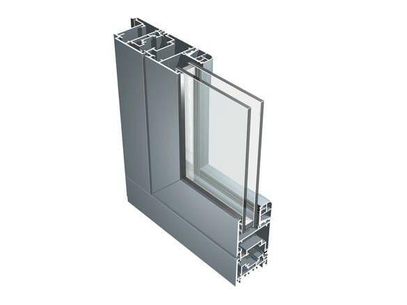 Aluminium double glazed window B 60 by ALUK Group