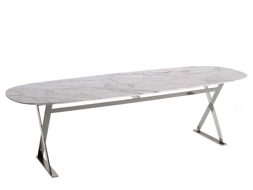 Rectangular marble table PATHOS | Table by Maxalto