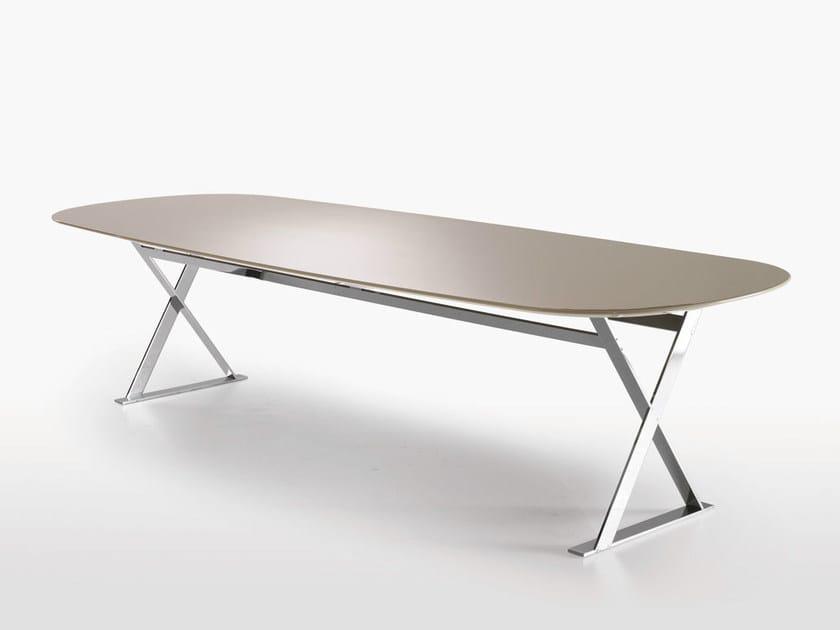 Rectangular MDF table PATHOS | Rectangular table by Maxalto