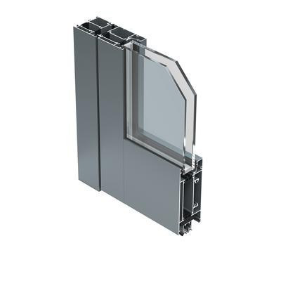 Exterior glass and aluminium entry door 67 ID by ALUK Group