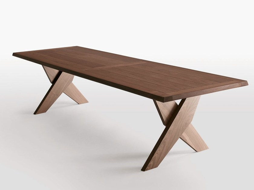 Rectangular solid wood table PLATO by Maxalto