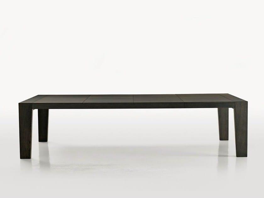 Extending rectangular wooden table OMERO | Extending table by Maxalto