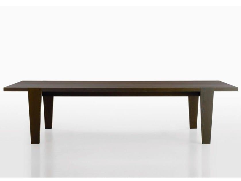Rectangular solid wood table OMERO | Table by Maxalto