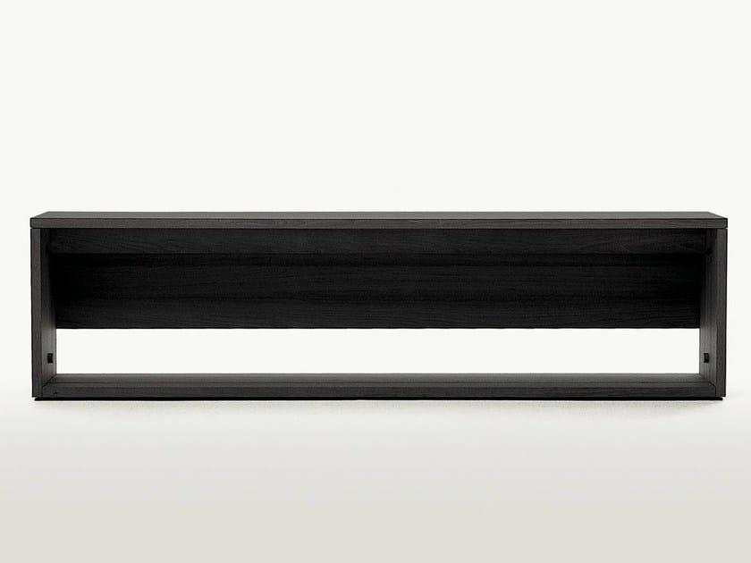 Extending rectangular wooden console table CUMA by Maxalto