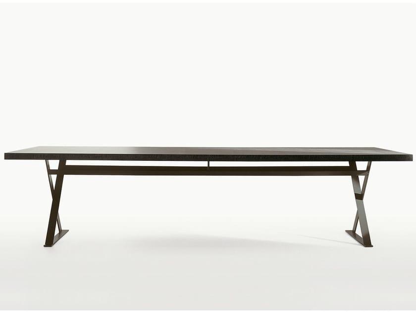 Rectangular steel and wood table MAX   Rectangular table by Maxalto