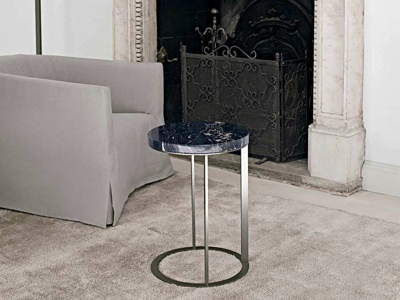 Round marble coffee table LITHOS | Round coffee table by Maxalto
