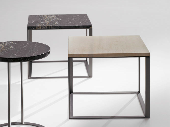 Square marble coffee table LITHOS | Square coffee table by Maxalto