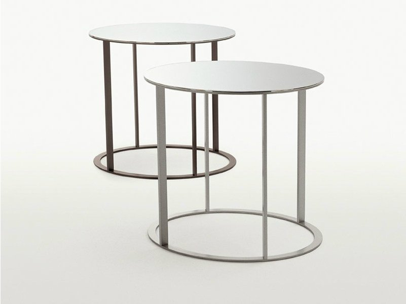 Round mirrored glass coffee table ELIOS   Round coffee table by Maxalto