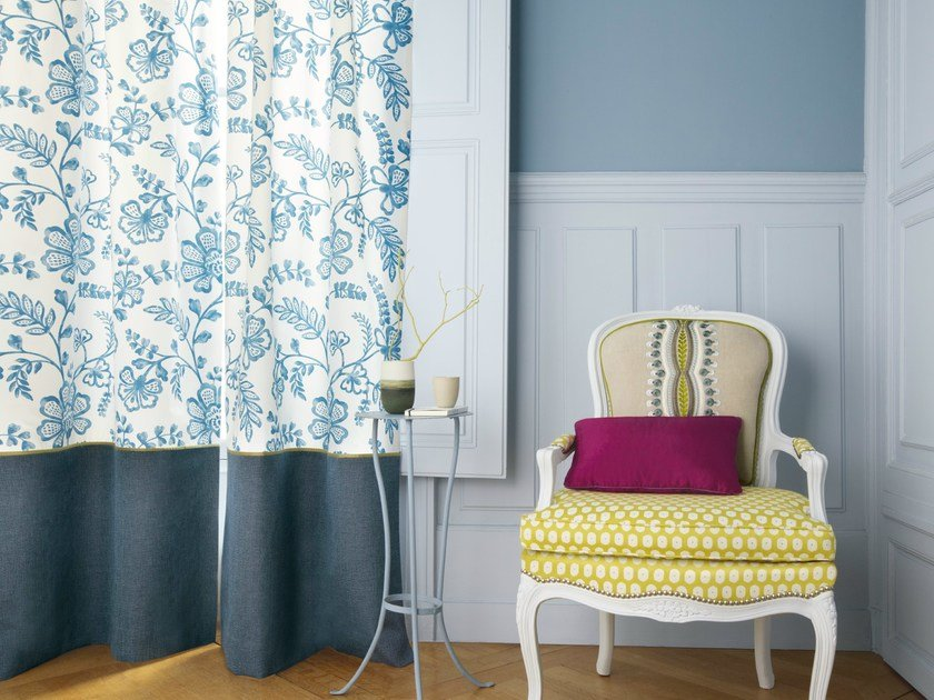 Cotton fabric MOUSTIÉ   Fabric for curtains by Zimmer + Rohde