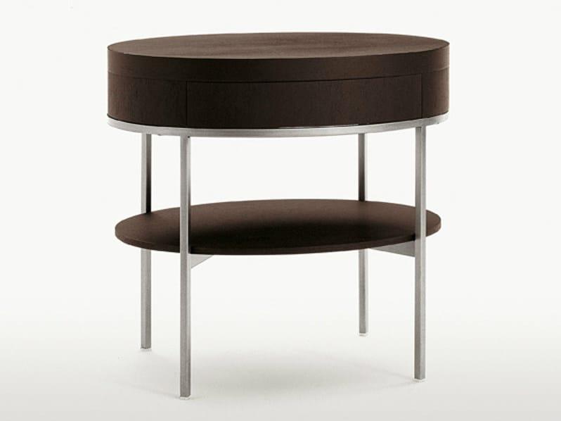Oak coffee table / bedside table EBE   Oval bedside table by Maxalto