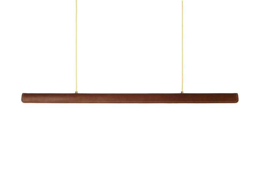 Handmade leather pendant lamp COHIBA by Formagenda