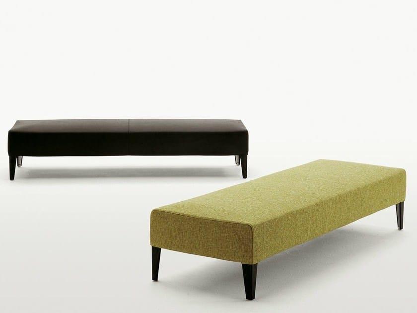Upholstered fabric bench FILEMONE | Bench by Maxalto