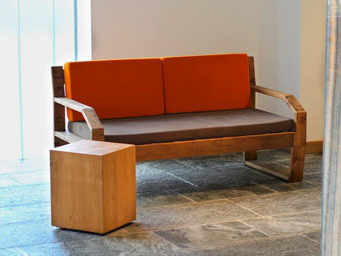 2 Seater Wooden Sofa Fabris Mountain By Lgtek Outdoor Design Michele Villa