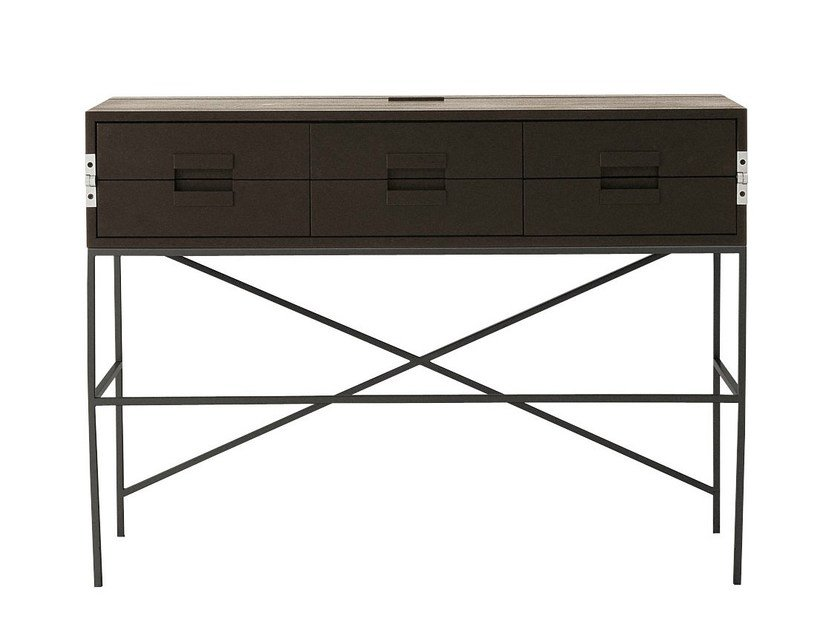 Solid wood writing desk with drawers ELIOS   Writing desk by Maxalto
