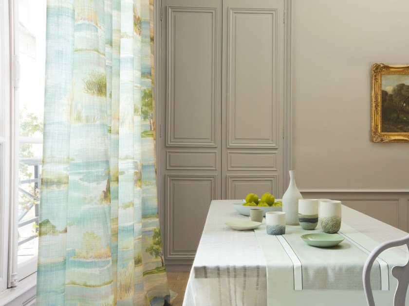 Linen fabric for curtains ESTUAIRE | Fabric for curtains by Zimmer + Rohde
