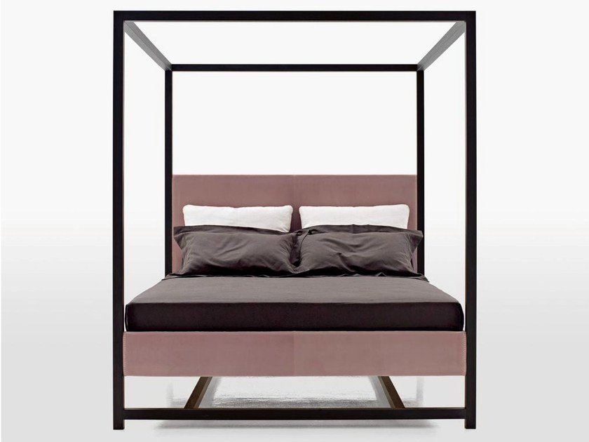 Double bed with removable cover ALCOVA 2009 by Maxalto