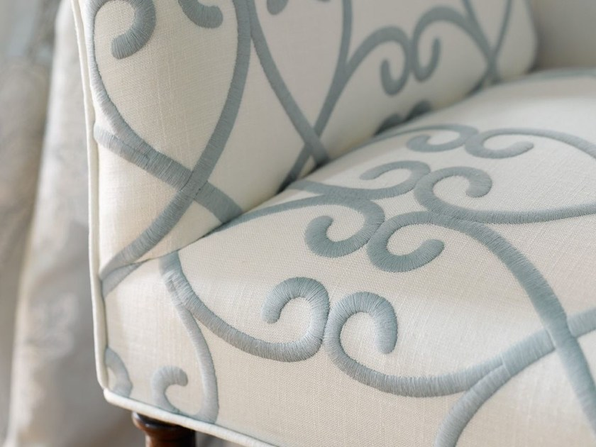 Embroidered cotton upholstery fabric BRITANNIA by Zimmer + Rohde