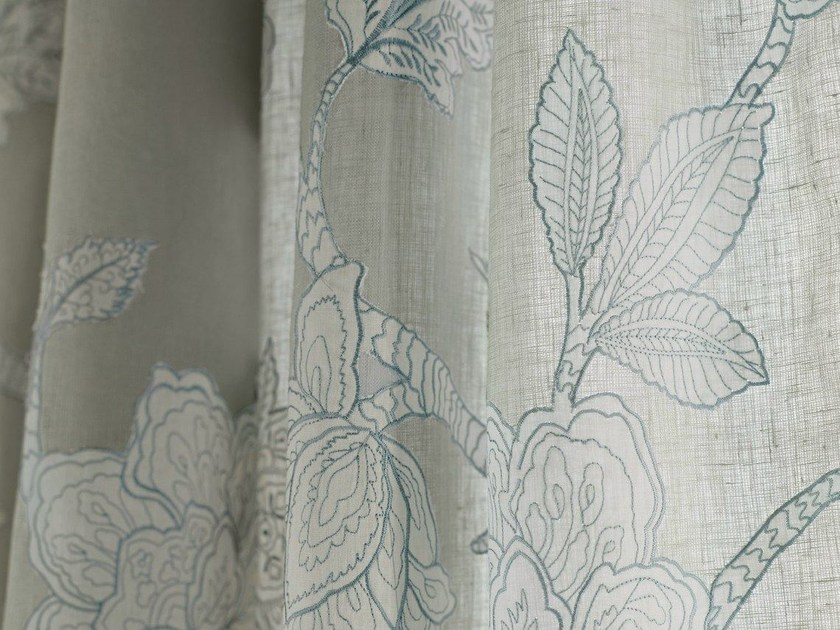 Linen fabric for curtains MUSTIQUE by Zimmer + Rohde