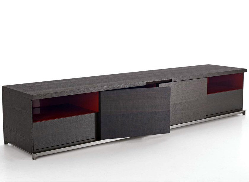 Wooden sideboard with doors MIDA | Sideboard by Maxalto
