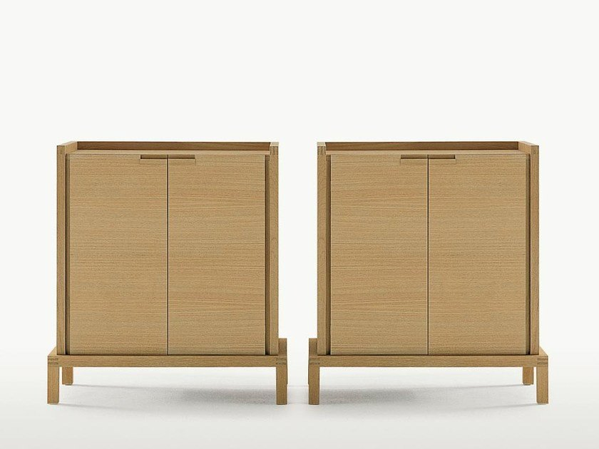 Wooden highboard with doors GEMINA by Maxalto