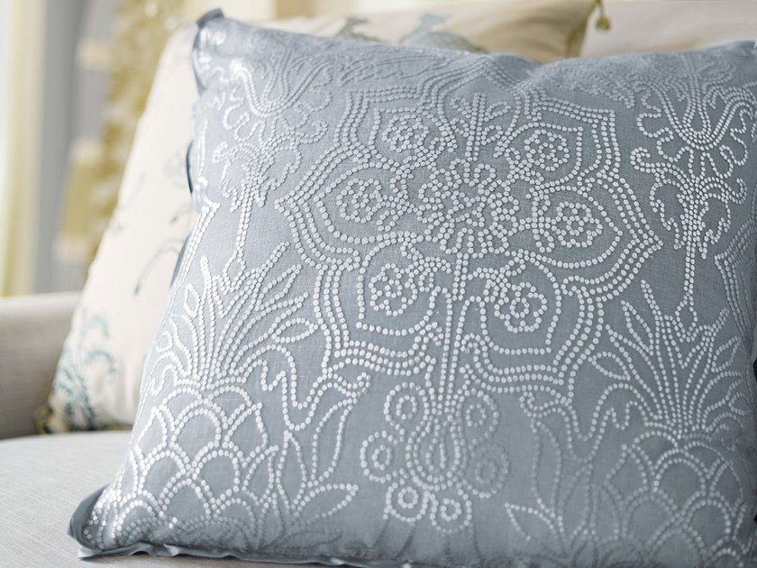Printed linen fabric CORDELIA | Upholstery fabric by Zimmer + Rohde