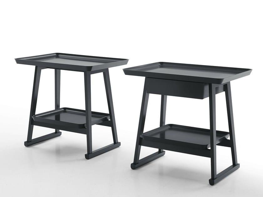 Rectangular wooden bedside table RECIPIO '14 | Rectangular bedside table by Maxalto