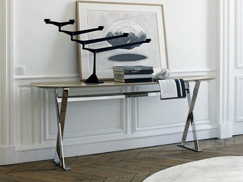 Oval console table PATHOS | Console table by Maxalto