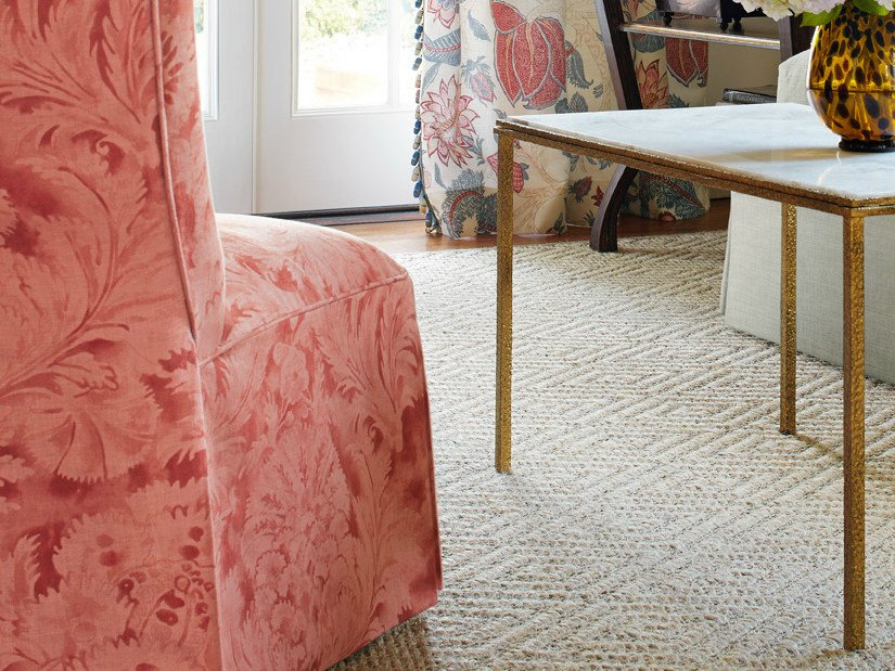 Jacquard printed fabric AUBREY DAMASK | Upholstery fabric by Zimmer + Rohde