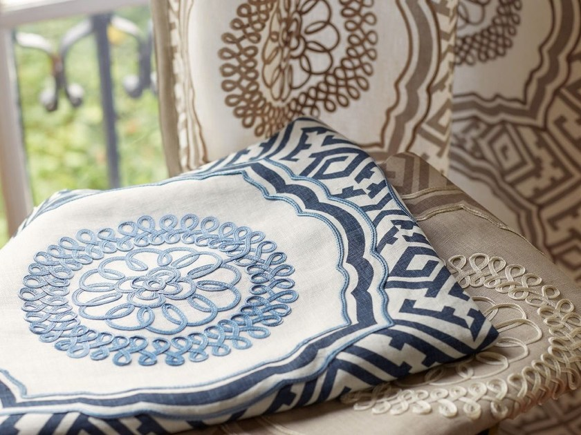 Fabric with graphic pattern STONEWARE by Zimmer + Rohde