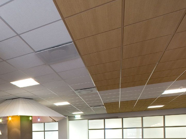 Ceiling tiles with wood effect Rockfon® Ligna™ by Rockfon