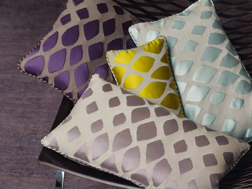 Jacquard fabric with graphic pattern JAGUAR | Upholstery fabric by Zimmer + Rohde