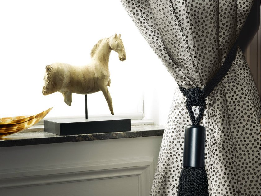 Dotted fabric PEACOCK | Fabric for curtains by Zimmer + Rohde