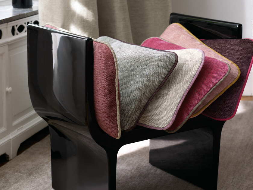 Solid-color chenille fabric AMARO | Fabric for curtains by Zimmer + Rohde