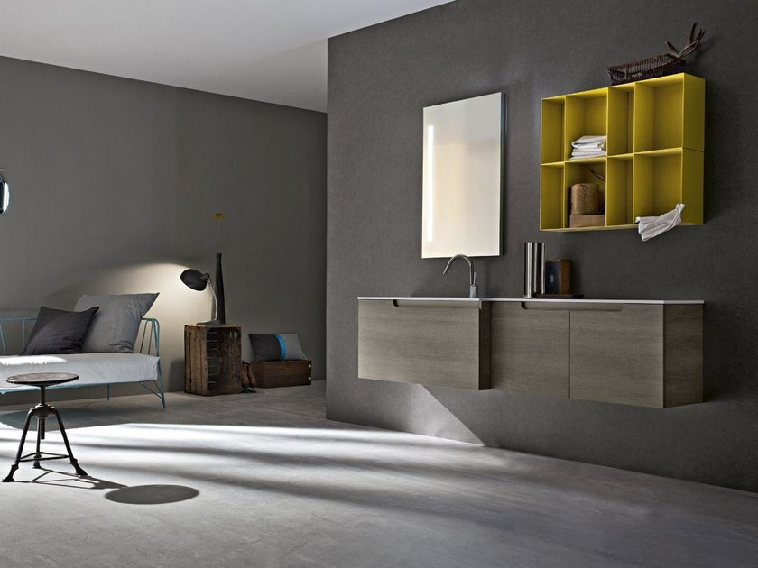 Single wall-mounted vanity unit RYO 66/67 by Cerasa