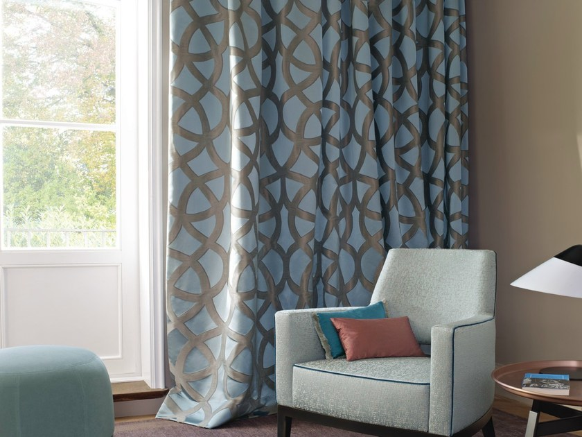 Moire fabric for curtains PIONEER by Zimmer + Rohde