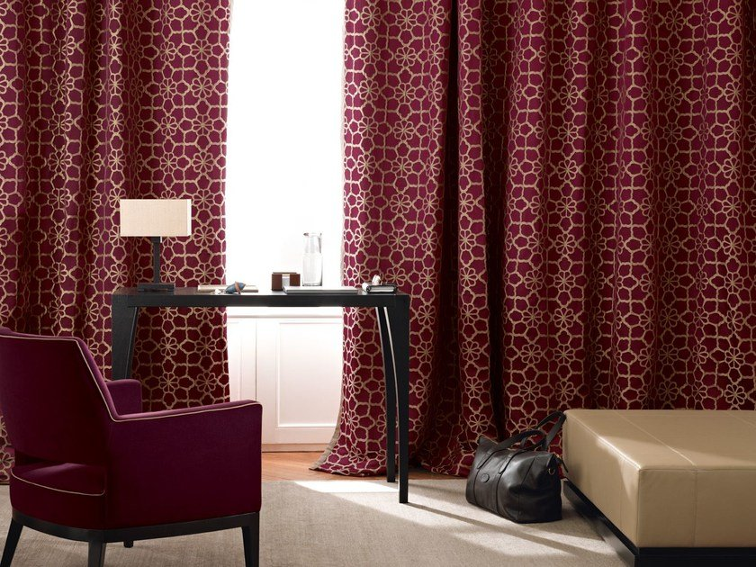 Jacquard polyester fabric MORAY | Fabric for curtains by Zimmer + Rohde