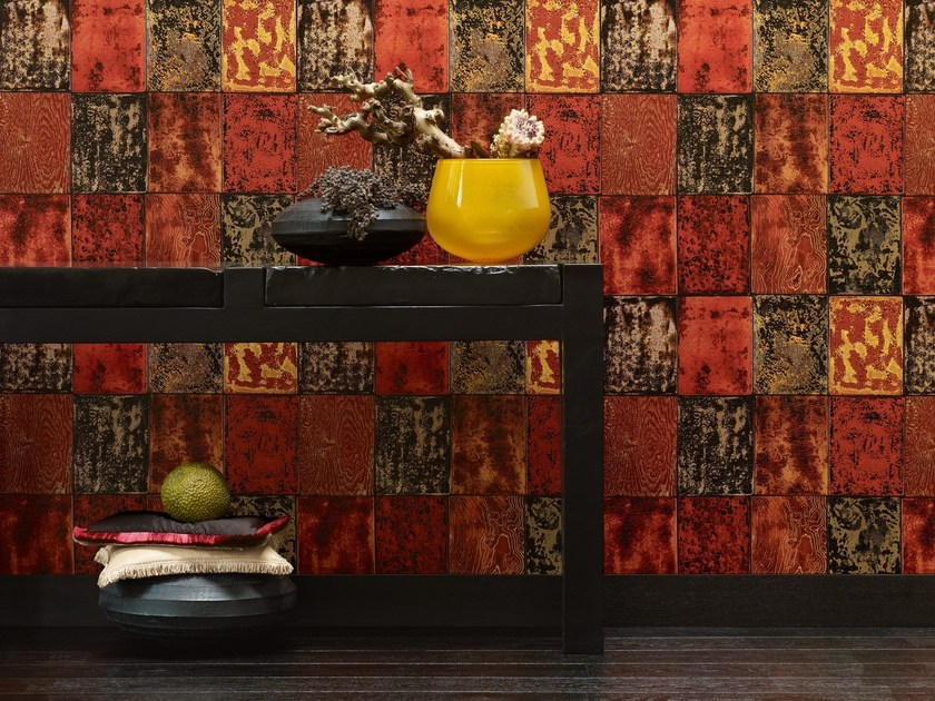 Geometric nonwoven wallpaper SHADES OF LACQUER by Zimmer + Rohde