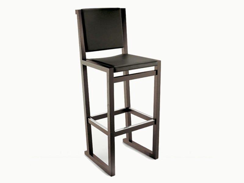 High solid wood stool MUSA | Stool by Maxalto