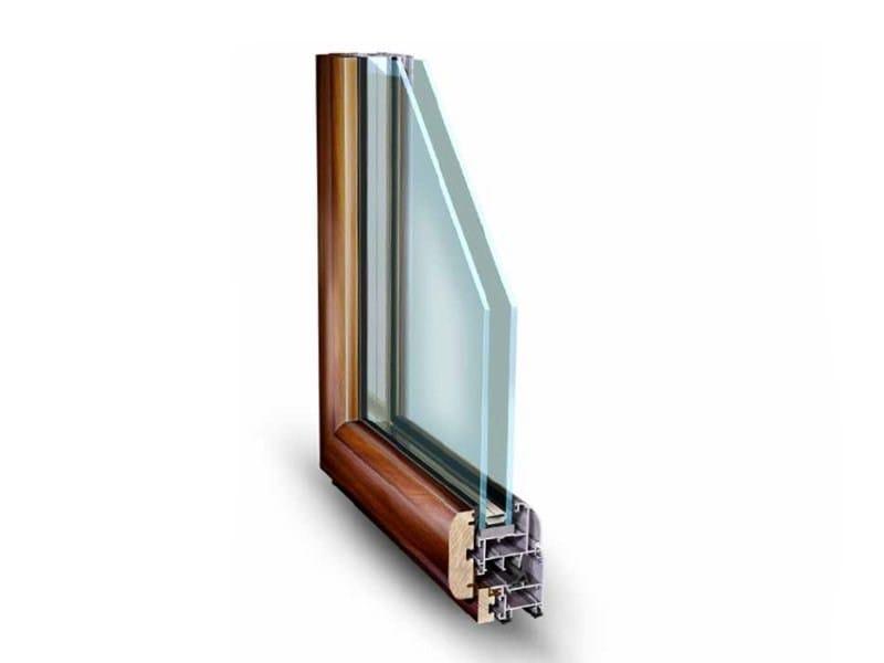 Aluminium and wood window NATHURA 59 by ALsistem