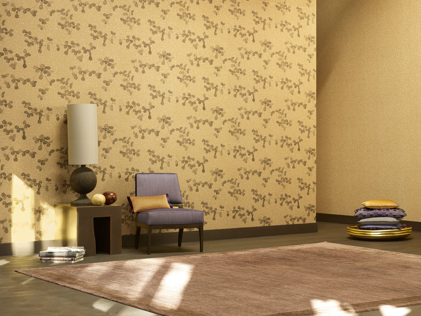 Nonwoven wallpaper with floral pattern MEDITATION LEAF by Zimmer + Rohde