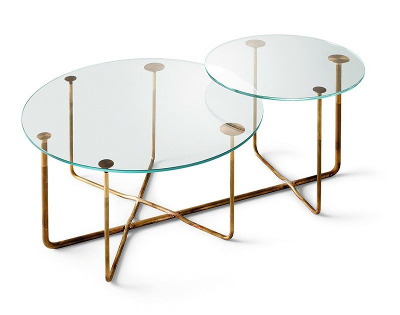 Round crystal coffee table CONNECTION | Round coffee table by Gallotti&Radice