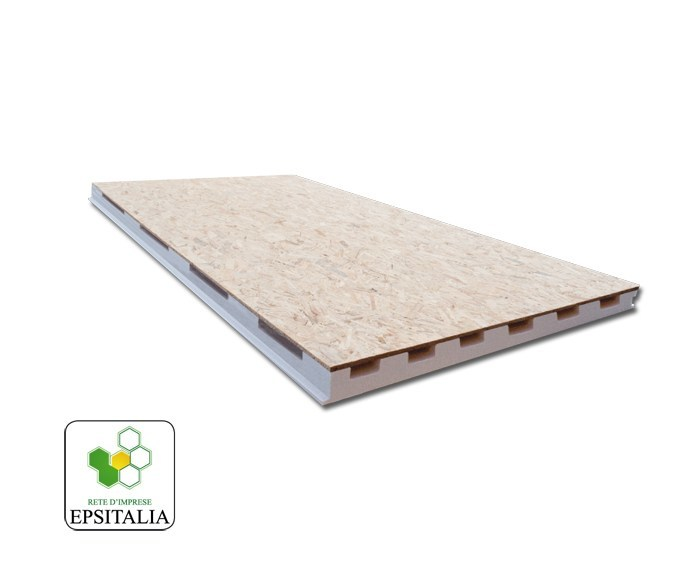 Thermal insulation panel ISOWOOD VENTILATO by S.T.S. POLISTIROLI