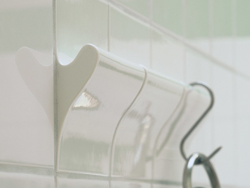 Ceramic wall hook for Dtile system DTILE   butcher's rail by DTILE