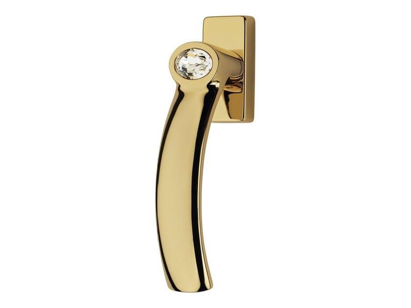 DK chromed brass window handle with Swarovski® Crystals on rose ELIPSE | DK window handle by LINEA CALI'