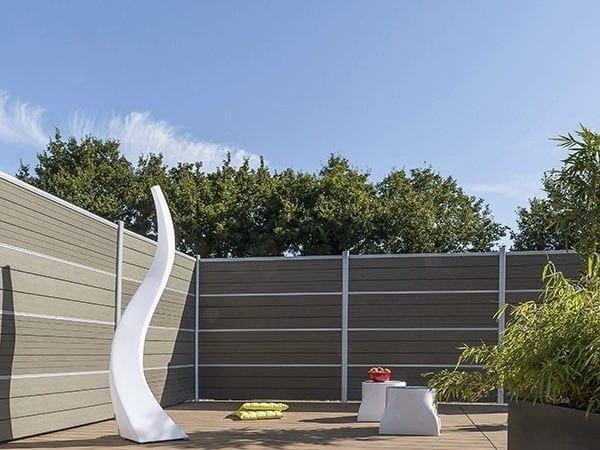 Schermo divisorio da giardino in legno composito lama per for Cancelli di legno per giardino