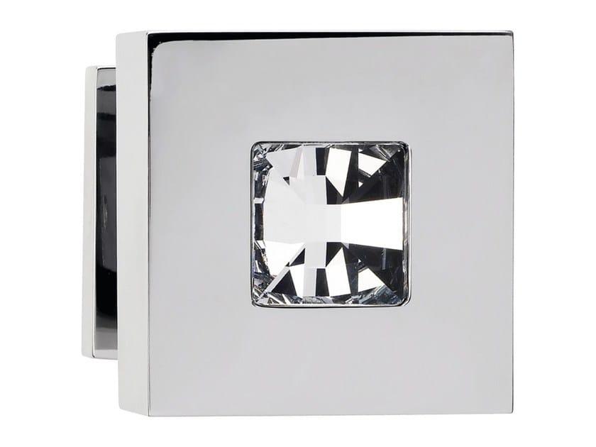 Chromed brass door knob with Swarovski® Crystals REFLEX   Door knob by LINEA CALI'